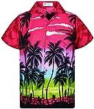 V.H.O. Funky Camisa Hawaiana, Beach, Rosa, XS