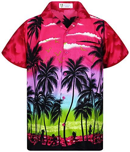 V.H.O. V.H.O. Funky Hawaiihemd, Kurzarm, Beach, pink, XS