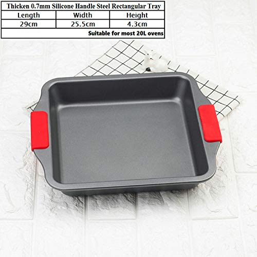 Advanced Carbon Steel Nonstick Square Baking Pan Tray Utensilios Para Microondas Best Cookie Sheets Baking Tray