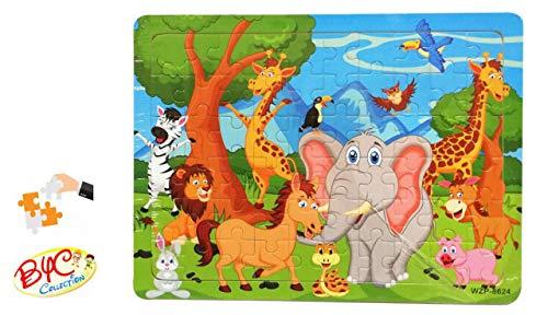 grandetalles Puzzle Madera Zoo