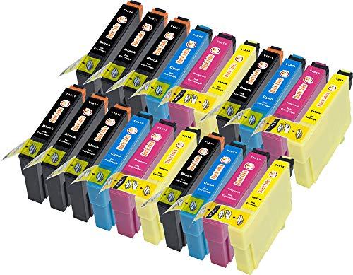 Duck Inks – Cartucho de tinta refabricado para usar en lugar de Epson 18XL (Negro/ Cian/ Magenta/ Amarillo pack de 20)