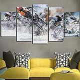 GSDFSD Tabla decoración Star Wars Batalla de Hoth - 200 x 100 cm Impresión Pinturas Murales Decor Dibujo con Marco Fotografía para Oficina Aniversario