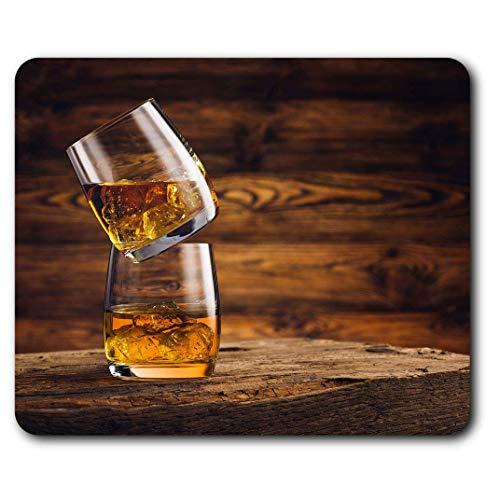 Comfortabele Muismat - Whiskey Bril Drink Whi-sky Alcohol voor Computer & Laptop, Kantoor, Cadeau, Antislip Base