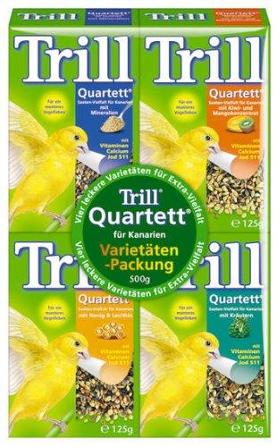 Trill Quartett Saaten-Vielfalt für Kanarien 44x125g