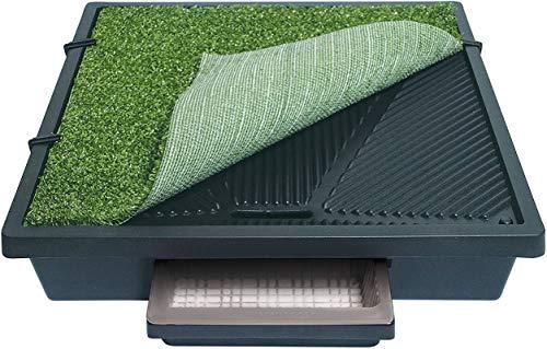 PetSafe - Toilettes Portables à Pelouse Synthétique pour Chiens Pet Loo, pour usage intérieur ou extérieur, Toilettes mobiles pour balcon – Compact, hygiénique et facile à nettoyer, Petit Format (S)