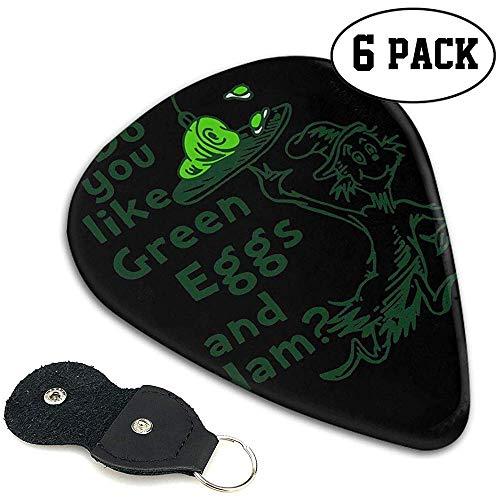 Do-You-Like-Green-Eggs-and-Ham-Gitarre, Ukulele-Plektren, Doppelseitiger Vollbreitendruck, 6 Stück