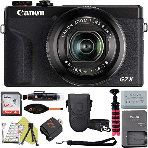 Canon PowerShot G7 X Mark III Digital Camera with Wi-Fi & NFC, LCD Screen and 4K Video - (Black) ZeeTech Advanced Accessory Bundle (Advanced Bundle)