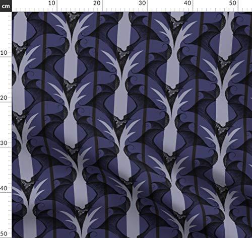 Fledermäuse, Gothic, Halloween, Viktorianisch Stoffe - Individuell Bedruckt von Spoonflower - Design von Thecalvarium Gedruckt auf Bio Baumwoll Interlock-Jersey