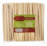 Wood Collection Wooden Coffee Stir Sticks, 100% Natural Birchwood Beverage Stirrers Eco Friendly Biodegradable 7' Stirrers For Hot Or Cold Drinks (1000 Count)
