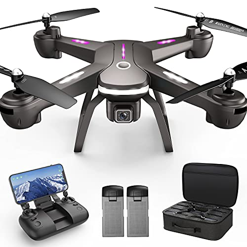GPS Drone with 4K Camera for Adults, Dual Camera 5G WiFi FPV Live Video Drone 40mins Flight Time,120°Wide-Angle Auto Return Follow Me, Easy for Beginner Headless,Carry Bag