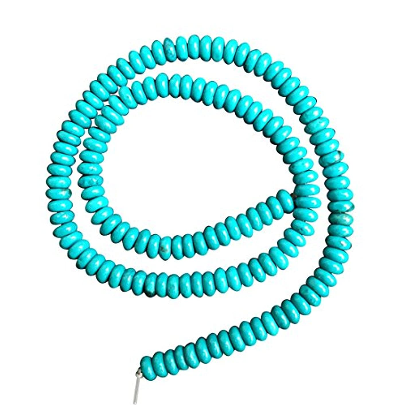 2 Strands Natural Turquoise Gemstone RondelleLoose Beads 5mm x 3mm for Jewelry Making 15.5