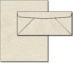 Natural pergamino papel y sobres–40sets
