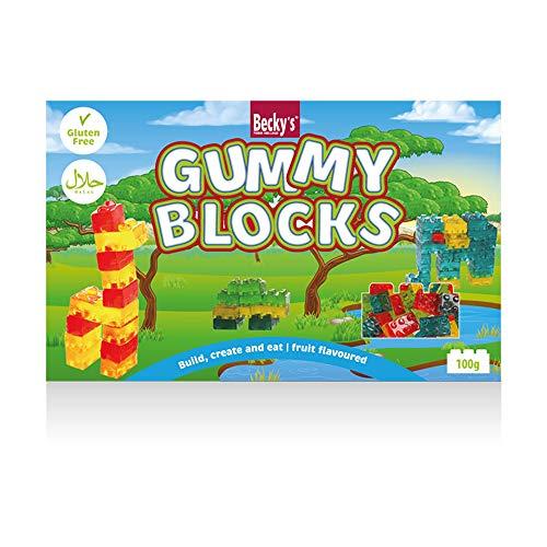 4D Gummy Blocks - essbare Klemmbausteine mit Fruchtgeschmack - Tiere - 100 g