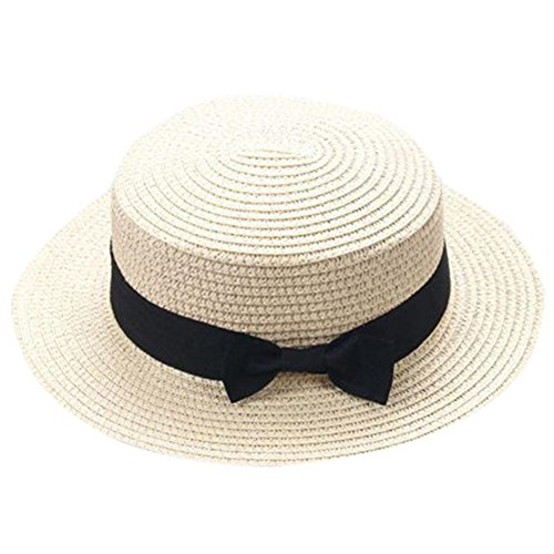 LUCKDE Mutter Vater Kinder Strandhut, Family Partnerlook Sonnenhut Matching Outfits Familien Outdoor Hut Fischerhut Schirmmütze Flatcap Schiebermütze Mütze Sommermützen (55-60cm, Beige(Eltern))