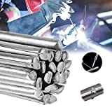 Solution Welding Flux-cored Rods, Low Temperature Welding Rods No Need Solder Powder, Easy Melt Aluminum Welding Rods for Alloy/Stainless/Galvanized Steel/Copper (20 pcs,2mm)
