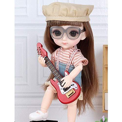 ETDWA Girl Dress Up Ragdoll Toy 6.2 Pulgadas Muñecas de simulación Juguetes para niños Juego de muñecas de Casitas Moda Princesa Muñeca Regalos de cumpleaños para el día de los niños 13 articulaci