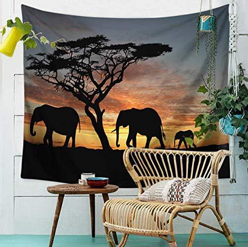 Éléphant Tenture murale Mandala Rectangle Tapisserie Décor À La Maison Draps Literie Animaux Paysage Tapis Boho Couvre-Lit 150 * 200 Cm