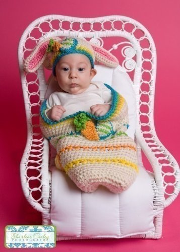 Easter Cocoon and Bunny Beanie Set Crochet Pattern PDF 187 (English Edition)