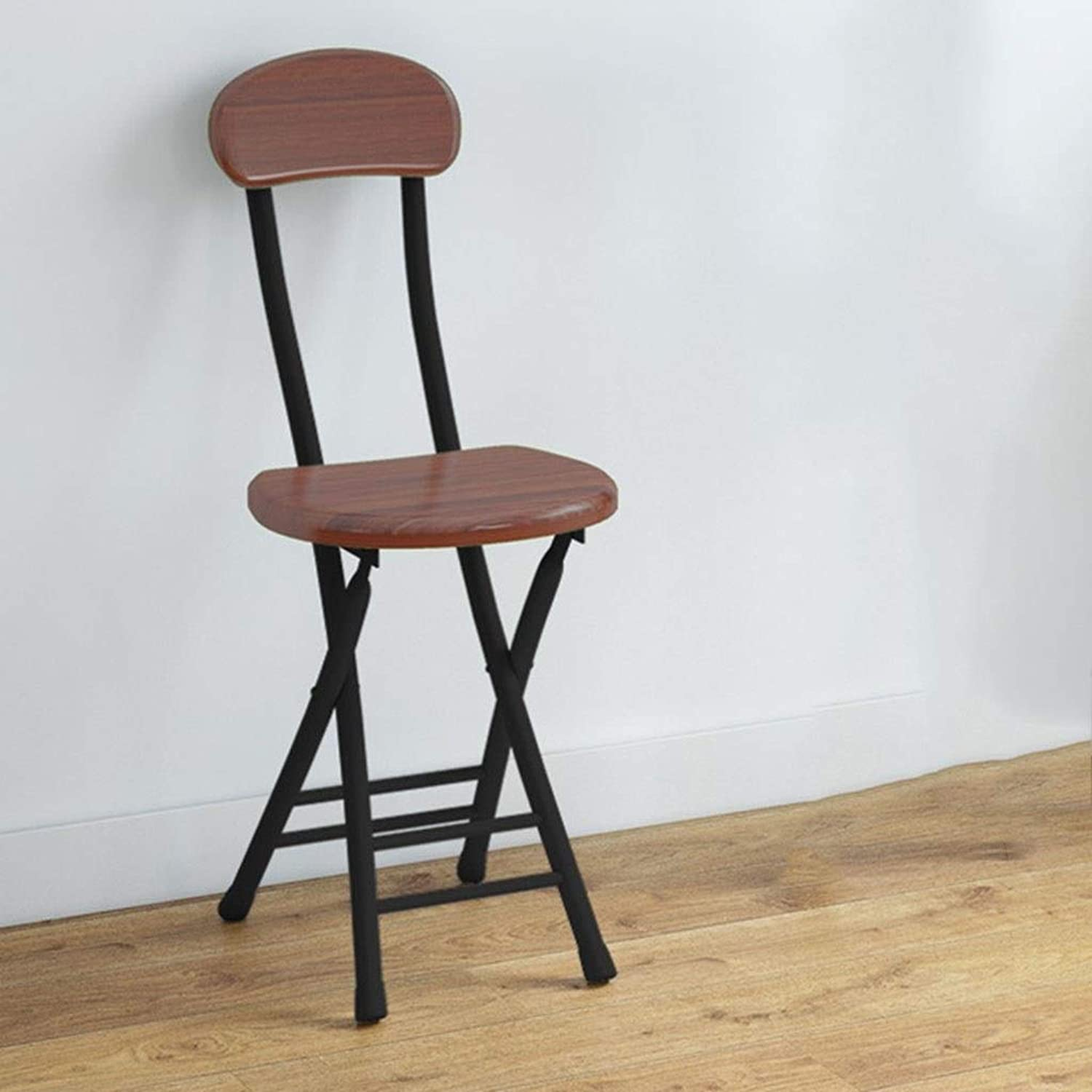 JKPA - Chairs Folding Chair Adult Bar Backrest Stool Modern Simple Home Chair Simple Portable Creative Fashion Table Stool ( color   I )