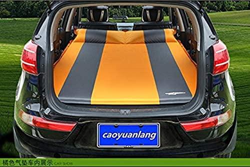 angelHJQ Cama de viaje de coche, SUV coche inflable colchón de viaje al aire libre del coche cama de aire flocado ventilar camping almohadilla a prueba de humedad