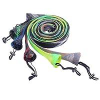 SF Fishing Casting Rod Socks Braided Mesh Rod Sleeve Cover Protector Pole Gloves(Random Color/6 PCS)