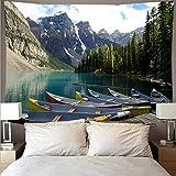 Hermoso bosque río paisaje tapiz arte psicodélico colgante de pared toalla de playa mandala manta tela colgante A4 73x95cm
