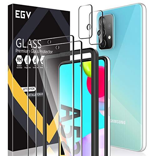 EGV Compatibile con Xiaomi Redmi Note 10/Xiaomi Redmi Note 10S Protector de Pantalla,2 Pack Cristal Templado e 2 Pack Protector de Lente de Cámara