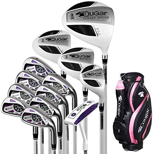 POSMA TY-GAR1W Damen Golfschläger Komplettset 13-teilig Graphitschaft für Damen Club, Anfänger, komplettes Set von Übungsstangen, mit Golftasche