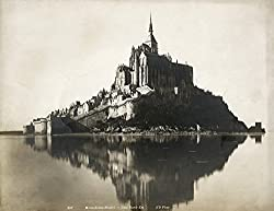 Black & White Photo of Mont Saint Michel, a great Paris themed gifts