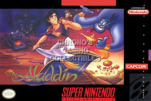 PALOMA NIEVES CGC Huge Poster - Disney's Aladdin Box Art Nintendo Super NES SNES - SNE61 (24