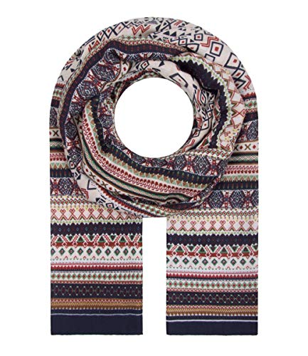 Majea Schal Damen Tuch Kopftuch Halstuch Schals und Tücher mit Muster Stola (blau 37)