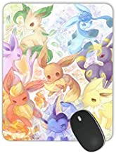 Personalized Rectangular Gaming Mouse Pad, Eight Pikachu Pokémon Eve Evolution Manga Anime New Mouse Pad, Natural Non-Slip Rubber Optical Laser Mouse Pad