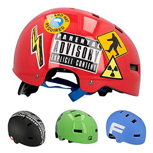FISCHER Fahrradhelm BMX Sticky S/M Casco de Bicicleta, Unisex Adulto, Rojo, Normal