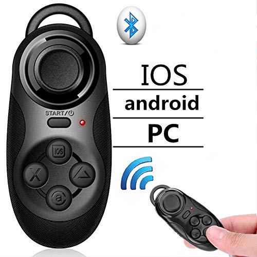 LQ Controlador, Mango Inalámbrico Bluetooth V4.0 Juego Mini Control Remoto VR Cojín Gamepad para iOS/Android Smartphone Joystick
