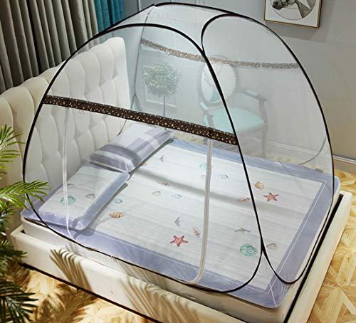 Thole Folding Mosquito Net Draagbare Pop up Tent Mesh Luifel Gordijnen met Bodem voor Bed Home Slaapkamer Outdoor Camping
