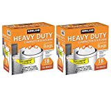 """Kirkland Signature Made in USA Heavy Duty Compactor & Kitchen Drawstring Bags,18 Gallon, 70 ct ,Thickness: 2.0 mil ,Dimensions: 25.625"""" x 28"""" (2 Pack)"""