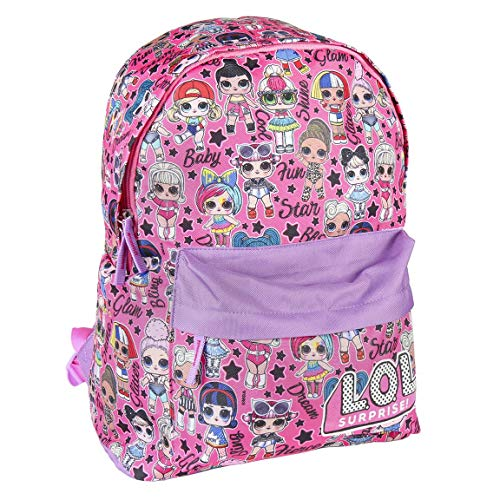 L O L Surprise! Girls Backpack, Children's Large School Backpack, Kids Luggage Travel Cabin Bag, Fun Multiprint Design, Featuring The Latest Dolls! Great Gift for Girls & Teenagers!