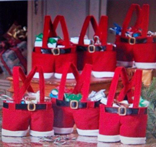 2Mini de Papá Noel botas de calcetines de pantalón corto de Idea de originelle textil de punto, fieltro, Teddy plástico, Advent Botas, botas de Navidad
