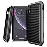 X-Doria Defense Lux, iPhone XR Case - Military Grade Drop Tested, Anodized Aluminum, TPU, and Polycarbonate Protective Case for Apple iPhone XR, 6.1' inch LCD Screen (Black Carbon Fiber)