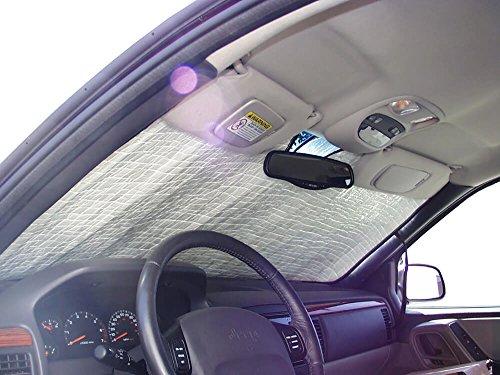 HeatShield, The Original Windshield Sun Shade, Custom-Fit for Jeep Grand Cherokee SUV 1999, 2000, 2001, 2002, 2003, 2004, Silver Series