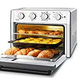 Air Fryer Toaster Oven Combo, WEESTA 7-in-1 Convection Oven Countertop, 24QT Large Air Fryer with Accessories & E-Recipes, UL Certified (Upgraded 3.0) (Air Fryer 24QT Silver)