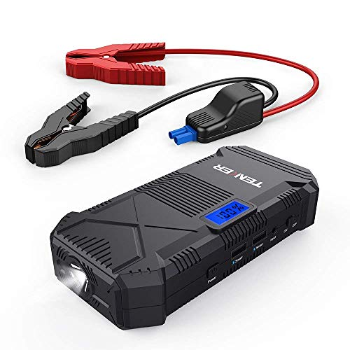 TENKER 600A Peak 14000mAh Portable Car Jump Starter (for 5.0L Gas &3.5L Diesel Engine), Auto Battery Booster Power Pack with Dual Smart Charging Ports