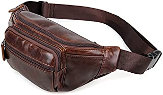 the love Coffee Genuine Leathers Men Waist Bag Waist Packs for Outdoor Sports Climbing Hiking or Travel Leisure
