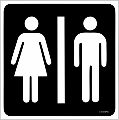 SignageShop Toilet/Washroom Sign Board Size: 8 Inch X 8 Inch