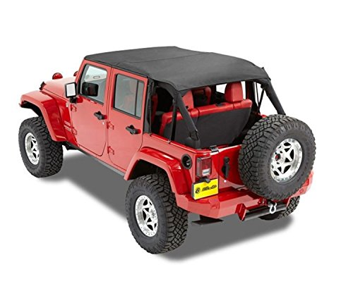 Bestop 5259435 Black Diamond Safari-Style Bikini Top for 2010-2018 Wrangler JK Unlimited