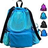 ButterFox Large Swimming Equipment Mesh Bag with Separated Waterproof...