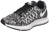 Nike Women's Air Zoom Pegasus 32 Print Running Shoe Black/White Size 6
