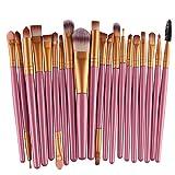 Demarkt 15 piezas Brocha Para Maquillaje Set de herramientas Base Polvo Kit