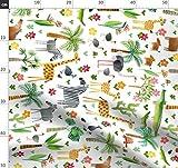 Blumen, verspielt, Mode, Giraffen, Cut and Sew, Tierbabys,
