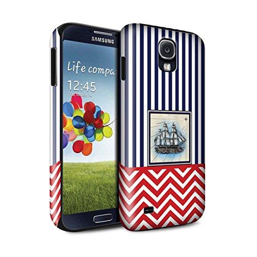Stuff4 Phone Case/Cover/Skin/SG-3DTBG / Nautical Marine Chevron Collection Samsung Galaxy S4/SIV schip/boot/zeilen.